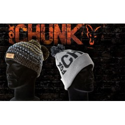 FOX CHUNK BOBBLE HAT BLACK/GRAY