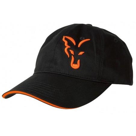 SAPCA FOX BLACK & ORANGE BASEBALL CAP