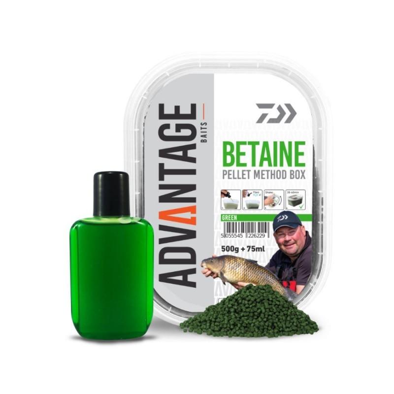 DAIWA PELLETMETHOD BOX GREEN BETAINE 500 gr+75 ml